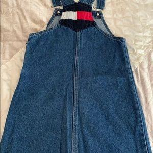Girls Small Tommy Hilfiger Vintage Dress Overalls